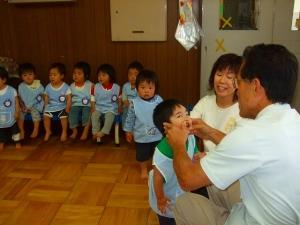 中津保育園歯科検診2